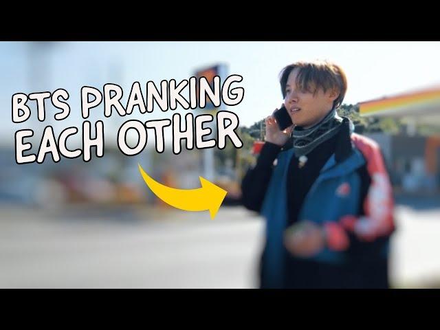 BTS pranking each other