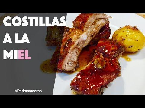 COSTILLAS de cerdo a la MIEL Receta Fácil y deliciosa