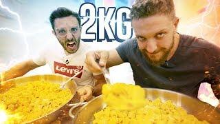 2Kg di CARBONARA 🥚 sfida contro xMurry  🐟 TheMerluzz Vs Food