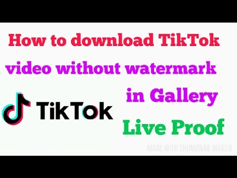 HOW TO SAVE OTHER TIK TOK VIDEO IN GALLERY WITHOUT WATERMARK