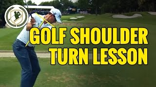Golf Tips - Shoulder Turn Lesson With Video Swing Analysis