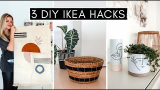 3 DIY IKEA Hacks - Interior & Deko: Wandteppich, Line Art Vasen, Deko Körbe