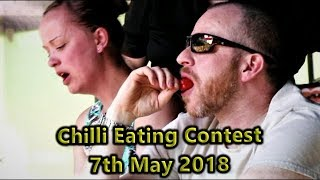 Chilli Eating Contest at Eastnor Castle Monday 7th May 2018