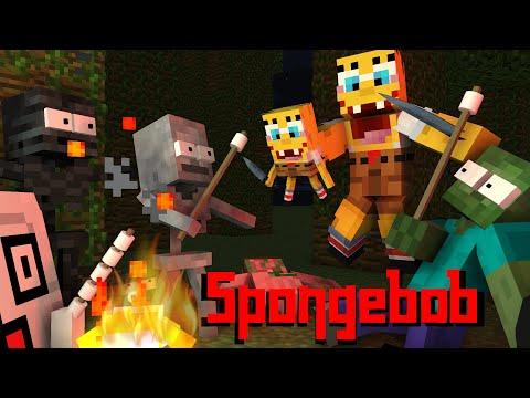 Monster School: SPONGEBOB HORROR GAME CHALLENGE - Minecraft Animation