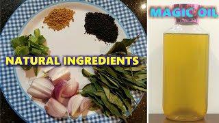 Herbal Homemade Magic Hair Oil / Hair Thickening / Hair Growth / Shiny Silky Hair