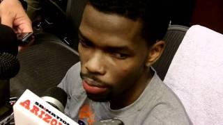 Aaron Brooks Postgame, Suns vs Raptors (March 23, 2011)