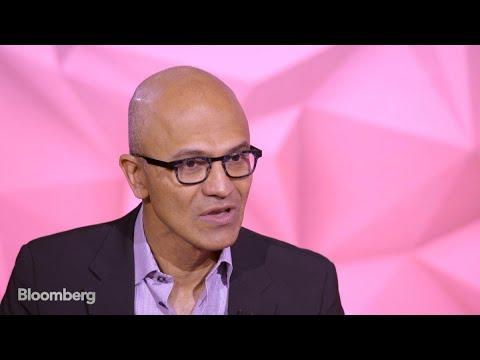 Satya Nadella: Bloomberg Studio 1.0 (Full Show)