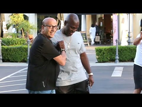 Corey Gamble Drops By Polacheck's Jewelry In Calabasas