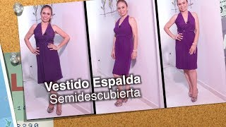 7df80b47b ... DIY Vestido Espalda Semidescubierta semi covered back dress- Omaira tv