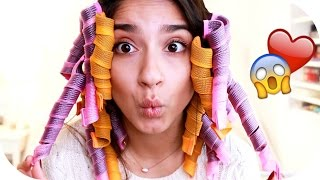 LOCKEN ohne HITZE! - Heatless Curls Methode mit LOCKENWICKLER | Sanny Kaur