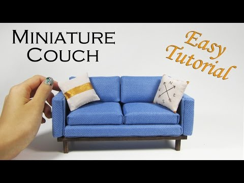 DIY Miniature Couch (No Sew)