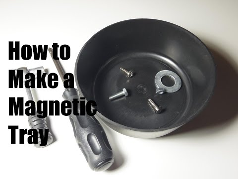 Make Your Own Magnetic Parts Tray Out Of A Plastic Bowl And A Magnet