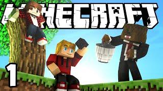 Minecraft SkyBlock Survival Episode 1! w/Mitch & Jerome