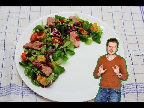 Теплый салат с уткой / Warm duck salad