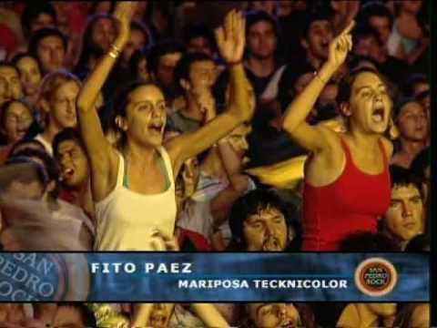 Fito Páez video Mariposa Tecknicolor - San Pedro Rock II / Argentina 2004