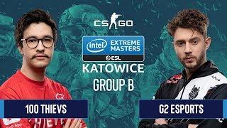 CS:GO - 100 Thievs vs. G2 Esports [Mirage] Map 1 - Group B - IEM Katowice 2020