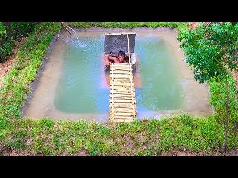 Building secret home under swimming pool