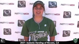 2021 Isabella Harding First Base and Third Base Softball Skills Video