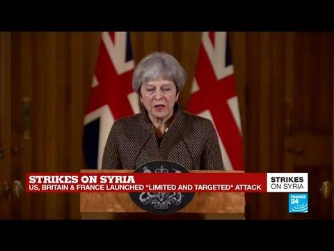 British PM Theresa May calls Syria strikes