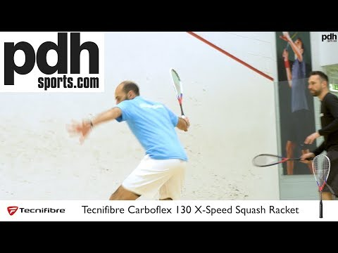 Tecnifibre Carboflex 130 X-Speed squash racket review with Marwan El Shorbagy