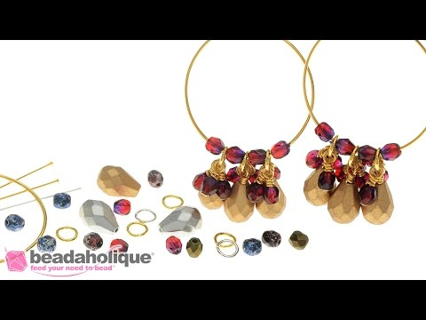 b2786bf379 How to Make the Beaded Hoop Earrings - An Exclusive Beadaholique Kit |  Beadaholique