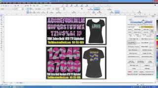 How To Make A Custom Glitter Cheer Shirt With TRW Zebra Bold TTF
