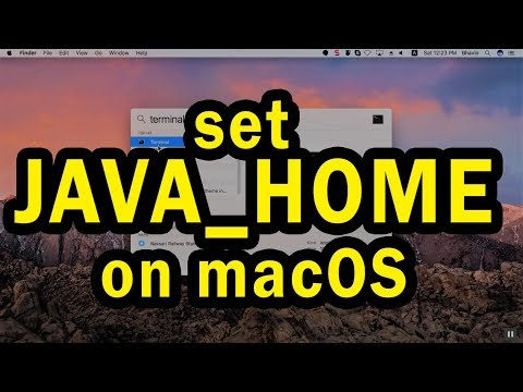 How to set JAVA_HOME path in Mac OS X or later