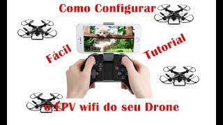 Como conectar o FPV do seu drone no celular. (Tutorial)