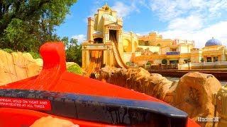 [4K] Atlantis Water Coaster Dark Ride - SeaWorld Orlando, Florida