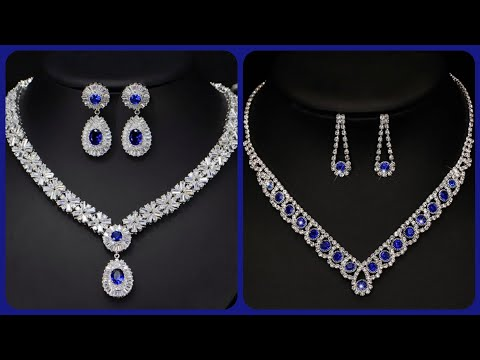 Most beautiful and expensive blue sapphire and diamond necklace designs