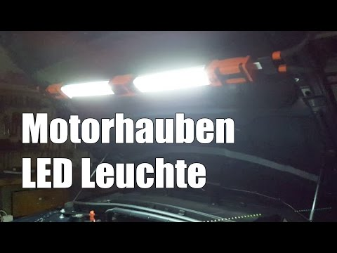 Motorhauben Leuchte LED mit Akku   Werkstatt Leuchte mit 120 LEDs