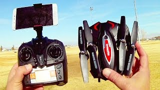 TK110HW Folding FPV Drone Flight Test Review