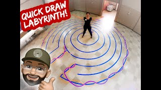 Quick And Easy Labyrinth! In 3 Minutes!!