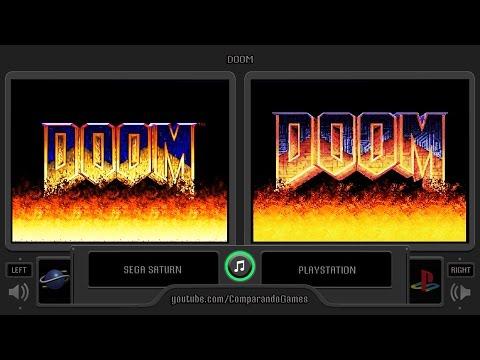 Doom (Sega Saturn vs Playstation) Side by Side Comparison