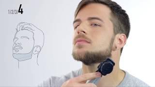 Tutorial barba: Corte de barba Mentón y líneas definidas con la recortadora ER-GD60
