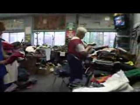 Tornado relief center in Aplington, Iowa