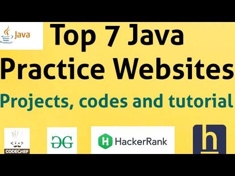 Top 7 Java Programming Practice Websites    Java Practice problems, Projects & Tutorial for beginner