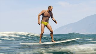 SURFING ON WATER MOD! (GTA 5 Mods Funny Moments)