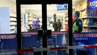 preview picture of video 'Mannen overvallen avondwinkel Veldhoven'