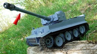 RC PANZER mit SCHUSS  und NEBELFUNKTION im TEST! (Sehr RIESIG)   Tiger 1