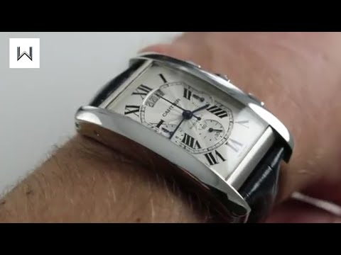 Cartier Tank Americaine XL Chrono 18K White Gold Luxury Watch Review