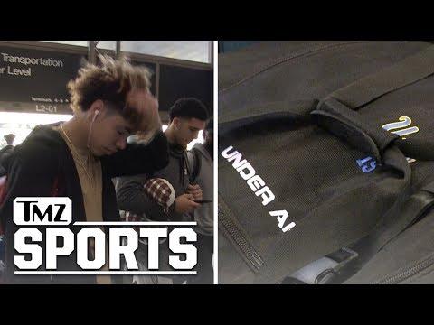 LiAngelo Rocks UCLA Bag On Way to Lithuania | TMZ Sports