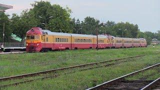 Дизель-поезда Д1-798 и 736 на ст. Унгены / D1-798 and 736 DMU