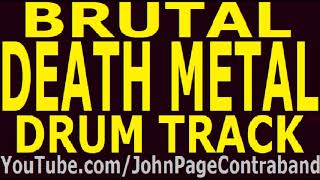 Brutal Death Metal Drum Track 200 bpm Slam Backing Drums Only FREE