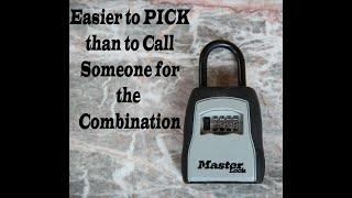 How to pick Master Lock 5400D Combination Realtor Lock Box with out combination