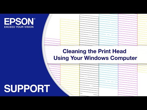 Cleaning the Print Head via Windows
