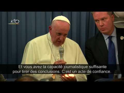 Le pape François réagit au communiqué de Mgr Vigano.