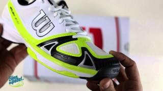 Wilson Rush Evo Men's Shoes White Lime video