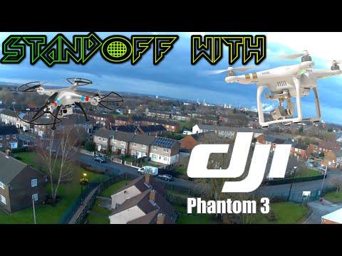 Syma X8G stand off with a DJI Phantom 3