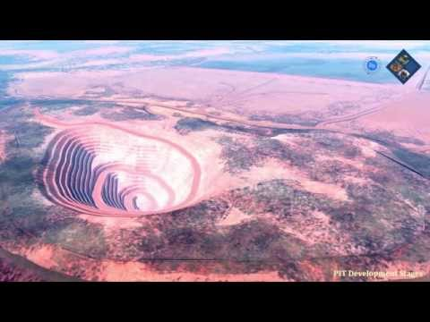 Geplante Kupfermine Altona Mining in Australien als Animation des zukünftigen Betriebes.
